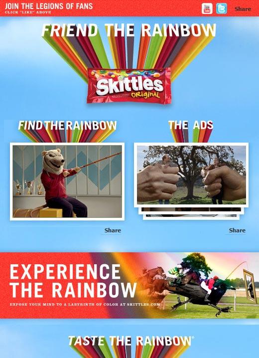 Skittles on Facebook
