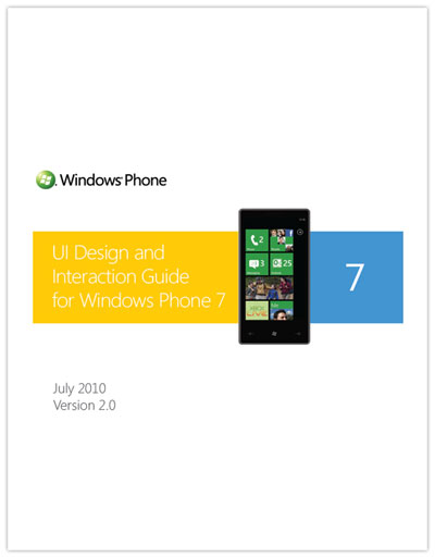 UI Design Interaction Guide for Windows Phone 7