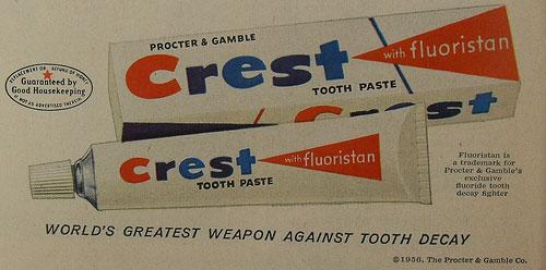 Vintage Crest Advertisement
