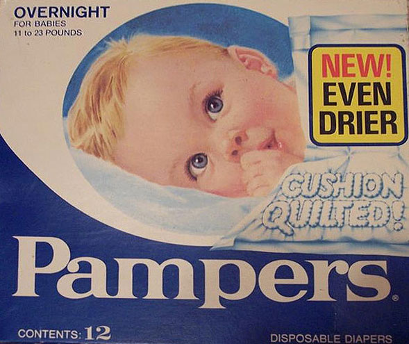 Vintage Pampers Packaging